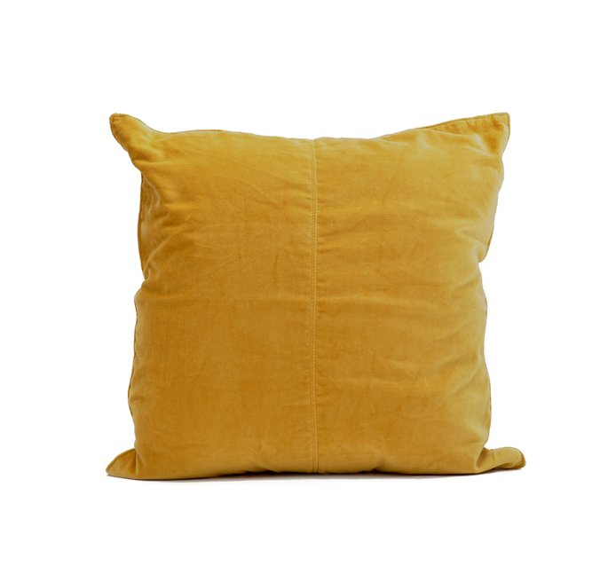 Yellow Velvet Cushion Cover