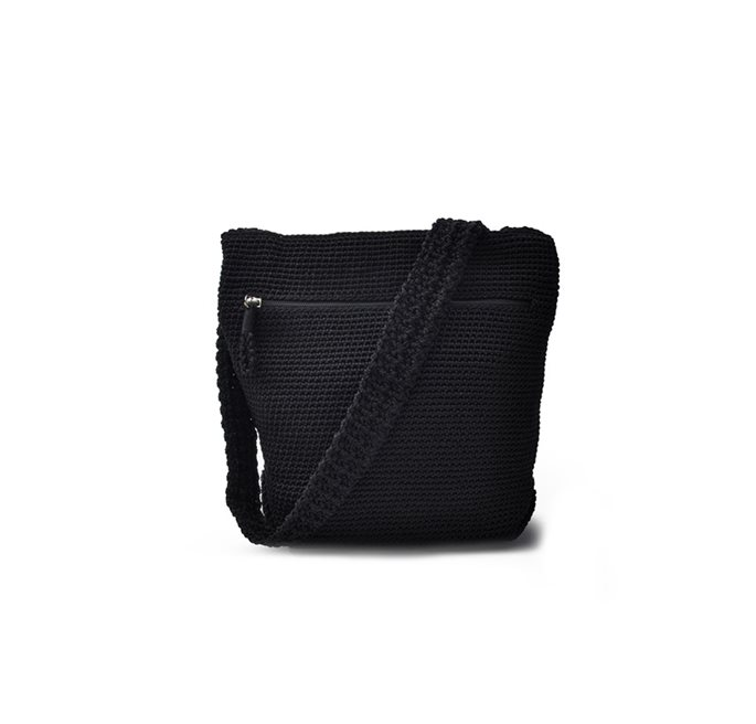 Black Crochet Cross Body Bag