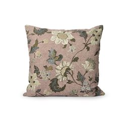 Dusty Pink Flower Linen Cushion Cover