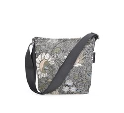 Black Flower Linen Small Shoulder Bag