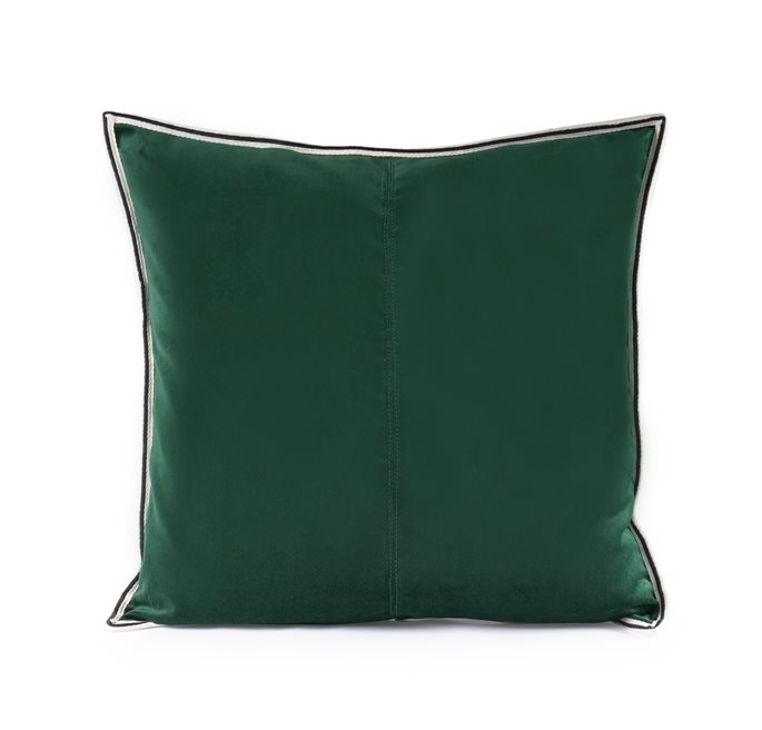 Dark Green Striped Edge Velvet C/c 50x50