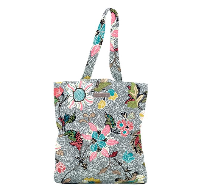 Grey  flower linen New Shopper