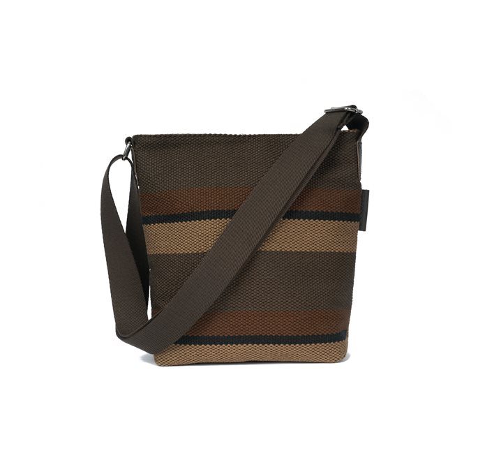 Small Shoulder Bag Brown Striped