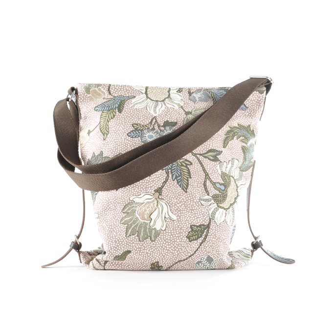 Shoulder Bag Dusty Pink Flower Linen