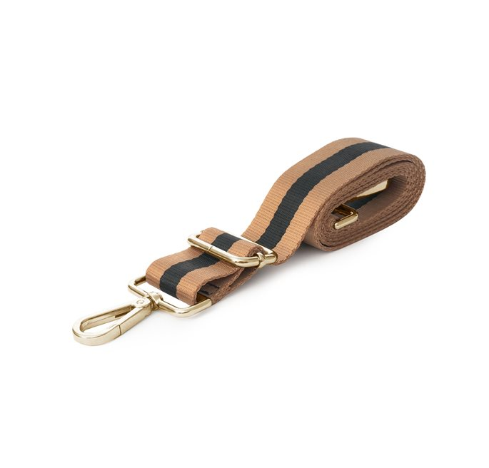 Shoulder Strap in Black/Camel Webbing (G)